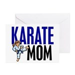Karate Mom (OF GIRL) 3 Greeting Cards (Pk of 20)