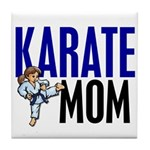 Karate Mom (OF GIRL) 3 Tile Coaster