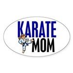 Karate Mom (OF GIRL) 3 Oval Sticker (10 pk)