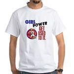 Girl Power 2 Karate White T-Shirt