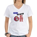Girl Power 2 Karate Women's V-Neck T-Shirt