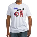 Girl Power 2 Karate Fitted T-Shirt