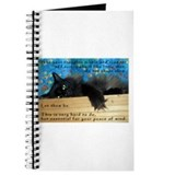 Nibbling Thoughts Black Cat Journal