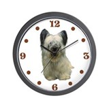 Skye Terrier portrait Wall Clock