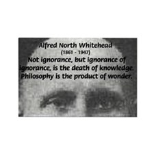 Philosopher: Alfred Whitehead Rectangle Magnet