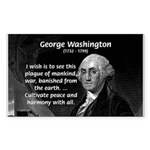 President George Washington Rectangle Sticker
