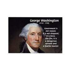 Politics: George Washington Rectangle Magnet