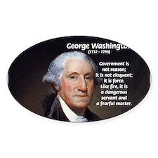 Politics: George Washington Oval Decal