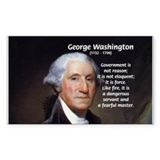 Politics: George Washington Rectangle Decal