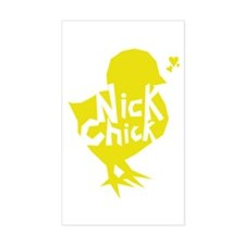Nick Chick Rectangle Decal