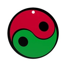 Red & Green Ying-Yang Ornament