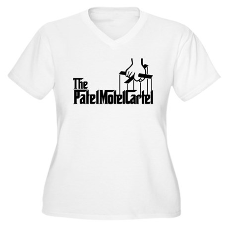 The Patel Motel Cartel Women's Plus Size V-Neck T-