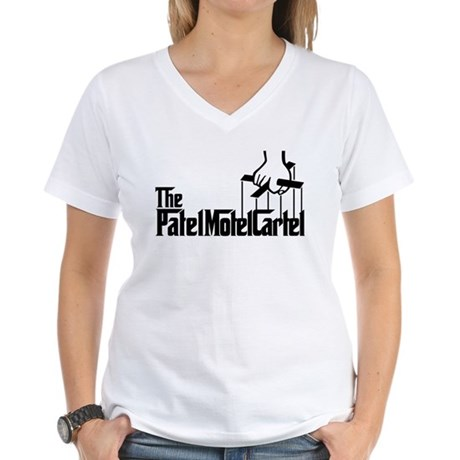 The Patel Motel Cartel Women's V-Neck T-Shirt