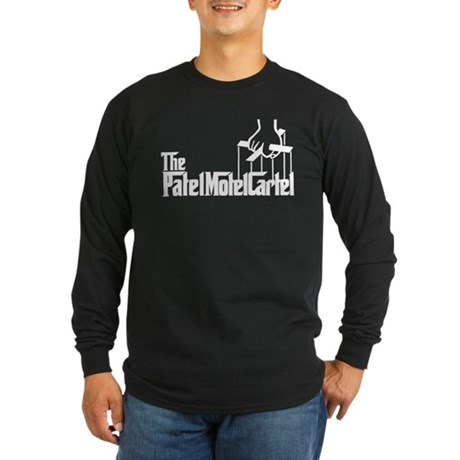 The Patel Motel Cartel Long Sleeve Dark T-Shirt