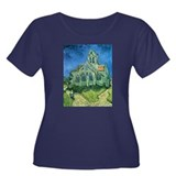 Van Gogh Church Women's Plus Size Scoop Neck Dark