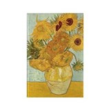 Van Gogh Sunflowers Rectangle Magnet (100 pack)