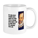 Cervantes &quot;Who Loses&quot; Coffee Mug