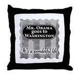James Stewart/Barack Obama Throw Pillow