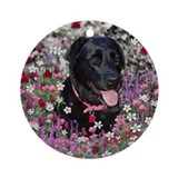 Abby in Flowers Ornament (Round)