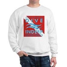 Dive Indeep Logo on Dive Flag Sweatshirt