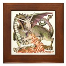 Fire Dragon Framed Tile