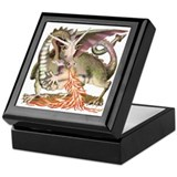 Fire Dragon Keepsake Box