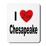 I Love Chesapeake Mousepad
