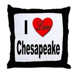 I Love Chesapeake Throw Pillow