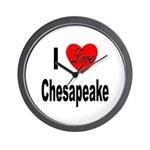 I Love Chesapeake Wall Clock
