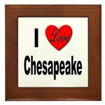 I Love Chesapeake Framed Tile