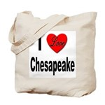 I Love Chesapeake Tote Bag