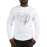 One Heart White Long Sleeve T-Shirt