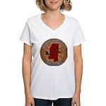 Mississippi Birder Women's V-Neck T-Shirt