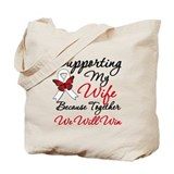 Cancer Support Wife Tote Bag