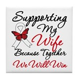 Cancer Support Wife Tile Coaster