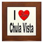 I Love Chula Vista Framed Tile