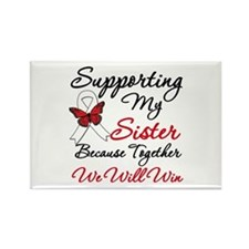 Cancer Support Sister Rectangle Magnet
