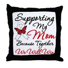 Cancer Support Mom Throw Pillow