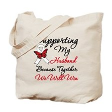 Cancer Support Husband Tote Bag