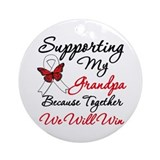 Cancer Support Grandpa Ornament (Round)