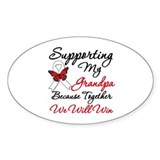 Cancer Support Grandpa Oval Sticker (10 pk)