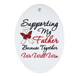 Cancer Support Father Oval Ornament