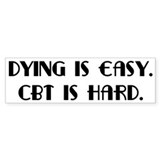 OCD CBT is hard Bumper Sticker (50 pk)