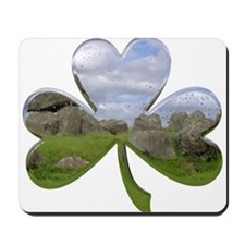 Irish Shamrock Metallic Mousepad