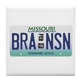 Branson License Plate Tile Coaster