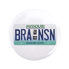 "Branson License Plate 3.5"" Button"