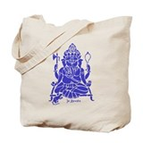 Jai Ganesh (Blue) Tote Bag