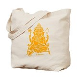 Jai Ganesh Blue and Orange Tote Bag