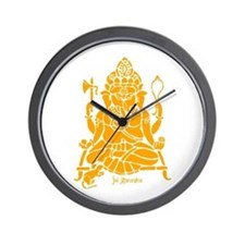 Jai Ganesh (Orange) Wall Clock