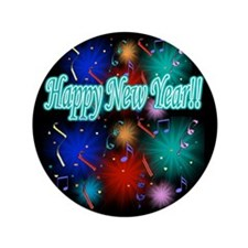 "Happy New Year!! 3.5"" Button"